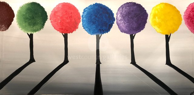 Image of COLOURFUL ROUND TREES