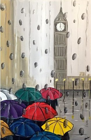 Image of Colourful London Umbrellas