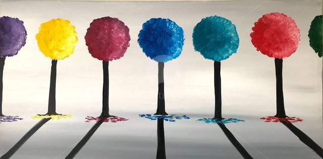 Image of Colourful Round Trees 2
