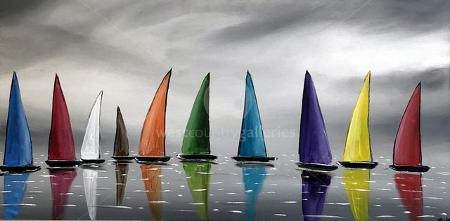Image of Colourful Stormy Sails 3