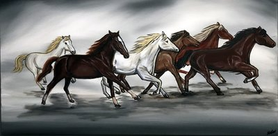 Image of Galloping In Unison