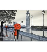 Image of Red London Umbrella 2