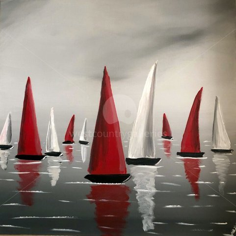 Image of Red And White Sails