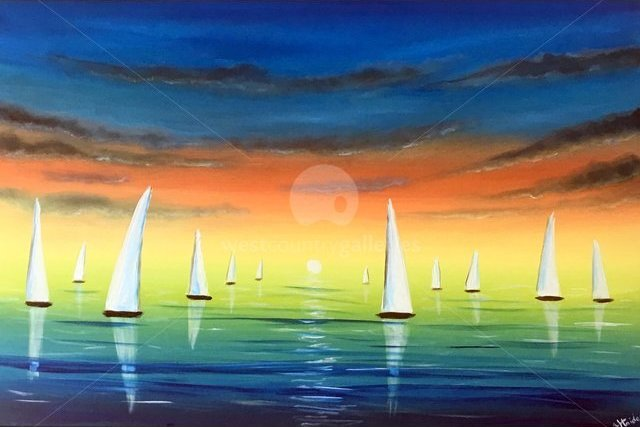 Image of Sailing In The Sunset