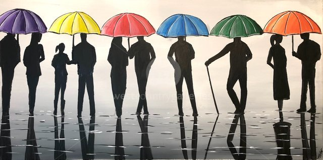 Image of Silhouettes And Umbrellas 2
