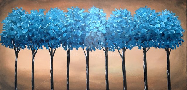 Image of Teal Blue Trees