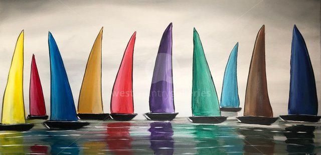 Image of Vibrant Colourful Sails 3