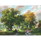 Image of Group of Trees with Cows, giclée print