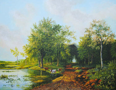 Image of Path by a Lake - giclée print