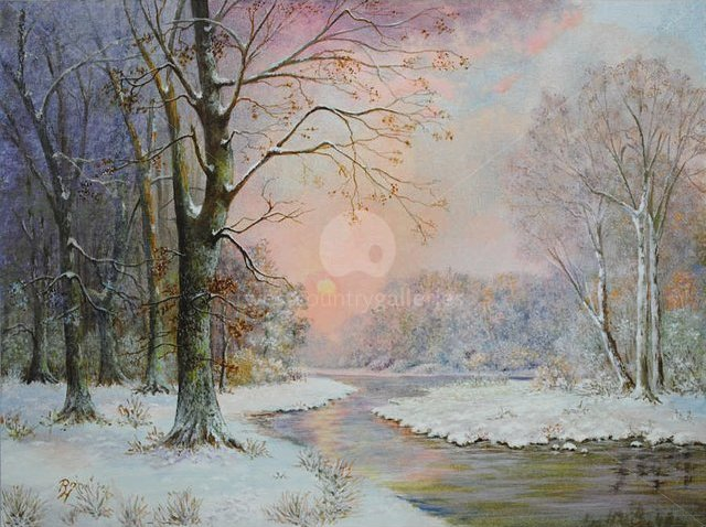 Image of Winter Sunset, giclée print