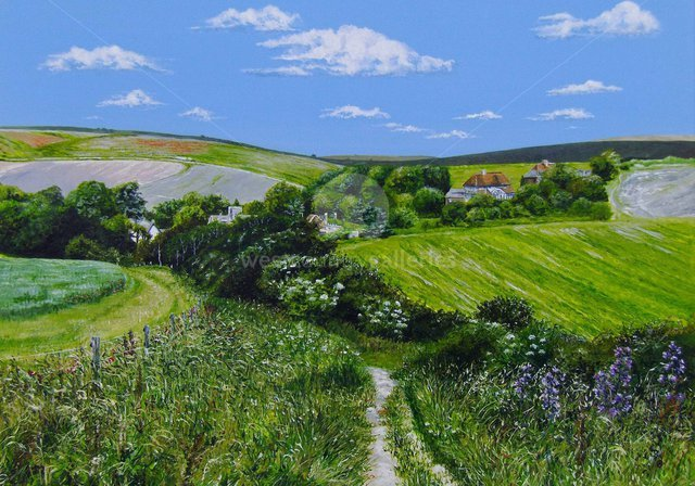 Image of Summer over Telscombe, Sussex