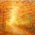 Image of Autumn Path Giclee Print