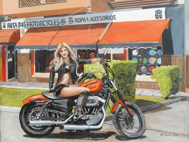 Image of Harley Davidson girl