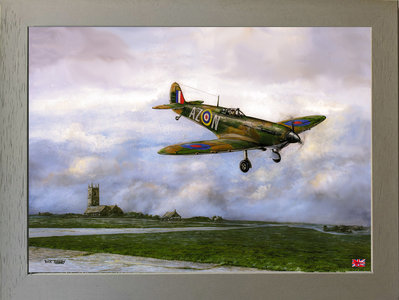 Image of Safely Home, Spitfire MK.1 - 234 Squadron, Royal Air Force St. Eval, Cornwall 1940.