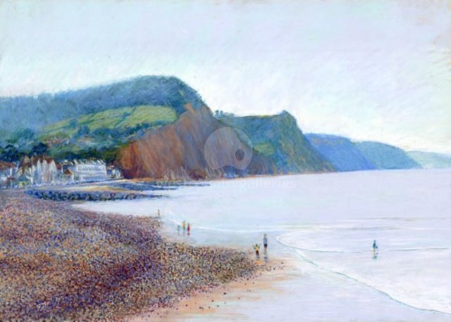 Image of Sidmouth towards Salcombe Regis, giclée print