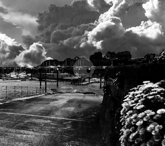 Image of Watchet Harbour - Black and White