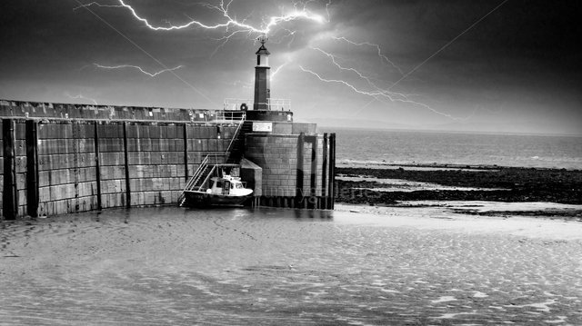 Image of Watchet Harbour 3 - Black and White