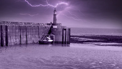 Image of Watchet Harbour 3 - Purple Haze