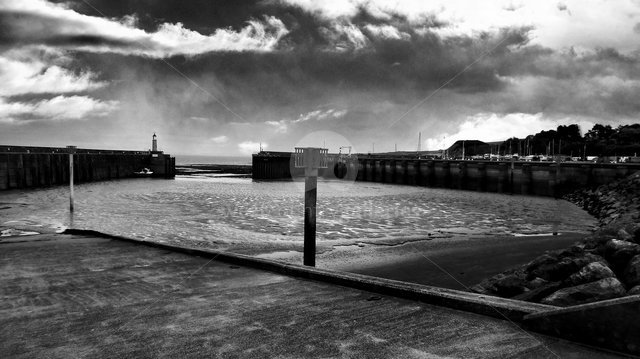 Image of Watchet Harbour - Storm Approach