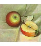 Image of Apples On Linen
