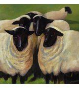 Image of Suffolk Sheep - Limited Edition print on canvas