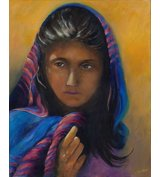 Image of Girl from Afghanistan - Limited Edition prints on box Canvas
